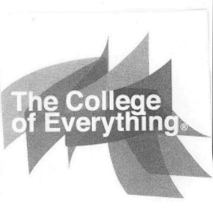 THE COLLEGE OF EVERYTHING