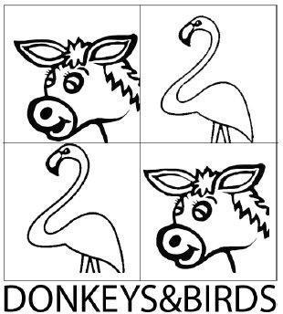 DONKEYS & BIRDS